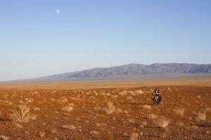 tvrdá oblast pouště Gobi
